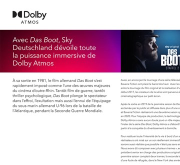 15261 Dolby Dasboot Casestudy French